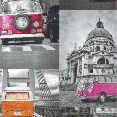 Colours VW City Campers Wallpaper 102571/E95011