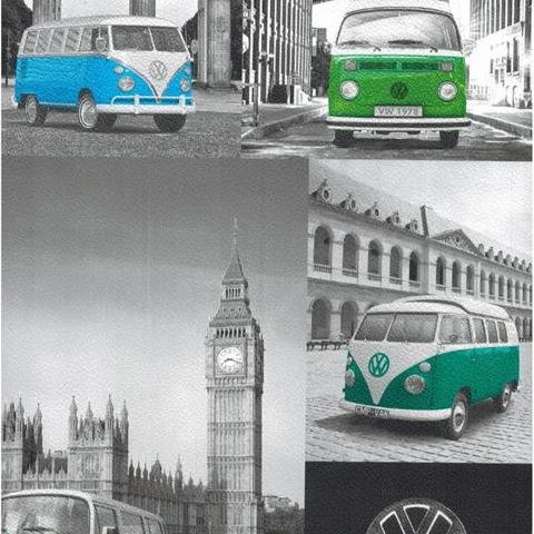 Colours VW City Campers Wallpaper Previously 601541 now 102571