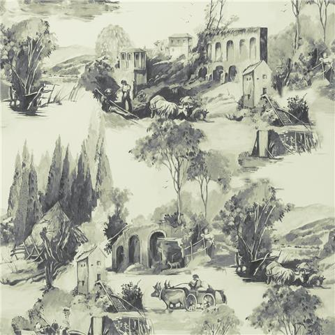 Clarke & Clarke Colony Wallpaper Anastacia Toile W0080-01