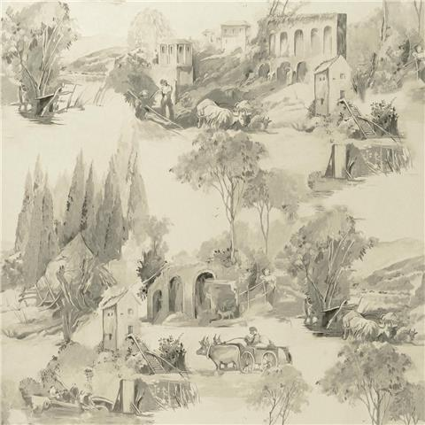 Clarke & Clarke Colony Wallpaper Anastacia Toile W0080-04