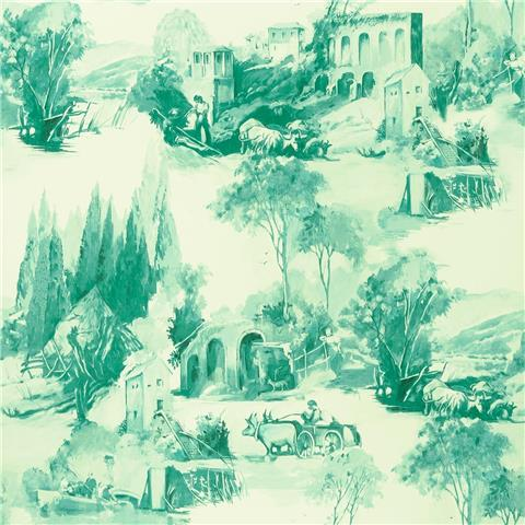 Clarke & Clarke Colony Wallpaper Anastacia Toile W0080-05
