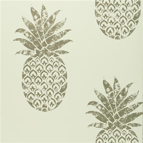 Clarke & Clarke Colony Wallpaper Tobago Pineapple W0086-02