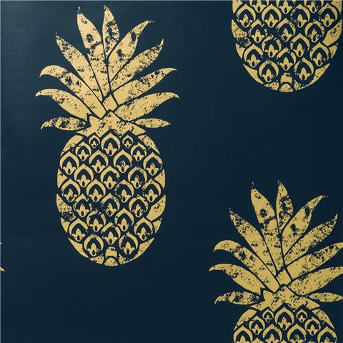 Clarke & Clarke Colony Wallpaper Tobago Pineapple W0086-03