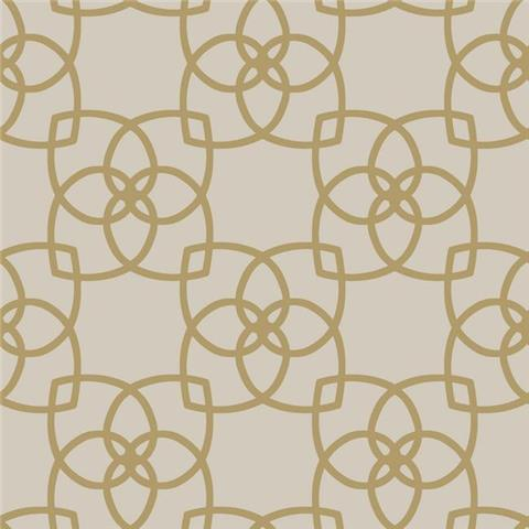York Designer Series Dazzling Dimensions Wallpaper-Serendipity Y6200202 Taupe/Gold