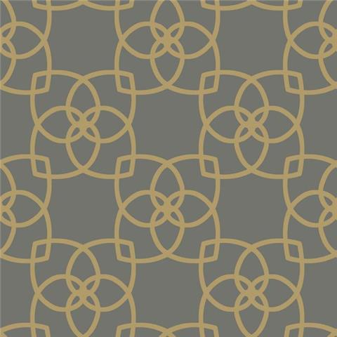 York Designer Series Dazzling Dimensions Wallpaper-Serendipity Y6200204 Pewter/Gold