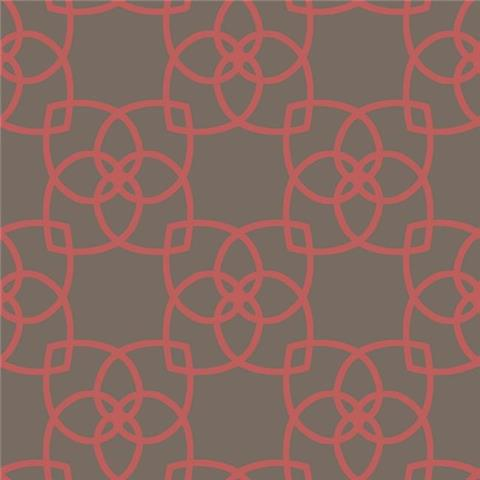 York Designer Series Dazzling Dimensions Wallpaper-Serendipity Y6200206 Red/Charcoal
