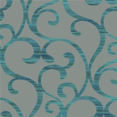 York Designer Series Dazzling Dimensions Wallpaper-Dazzling Coil Y6200303 Deep Teal