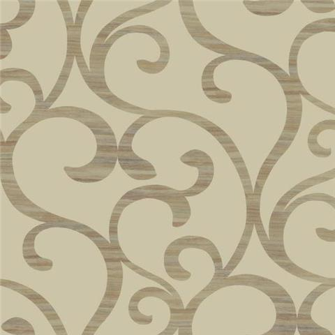 York Designer Series Dazzling Dimensions Wallpaper-Dazzling Coil Y6200305 Gold