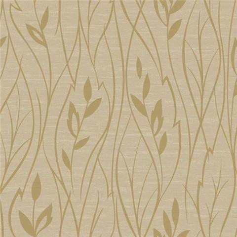 York Designer Series Dazzling Dimensions Wallpaper-Leaf Silhouette Y6200805 Deep Gold