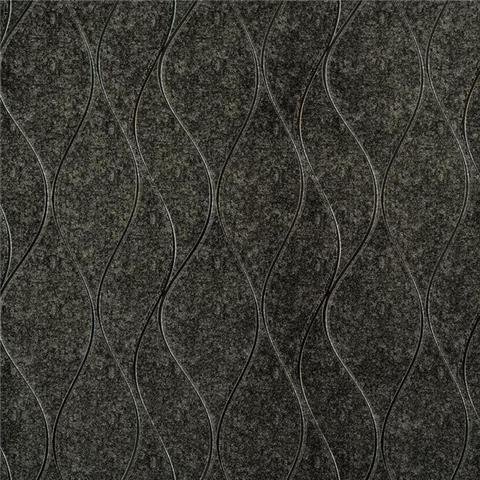 York Designer Series Dazzling Dimensions Wallpaper-Wavy Stripe Y6201405 Charcoal