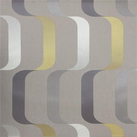 York Mid Century Wallpaper-Ribbon Y6221004 Taupe/Multi