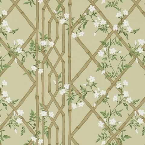 Zoffany Woodville Wallpaper-Jasmine Lattice ZWOO311329