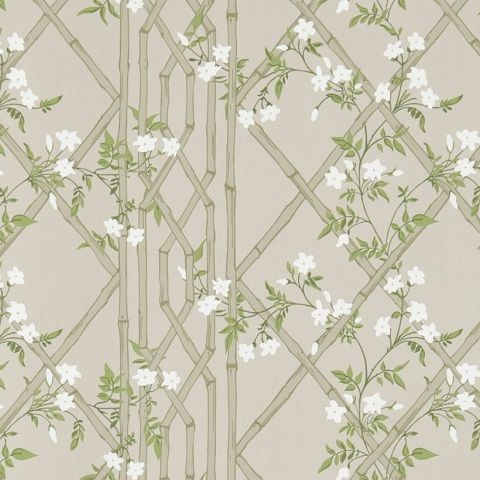 Zoffany Woodville Wallpaper-Jasmine Lattice ZWOO311331