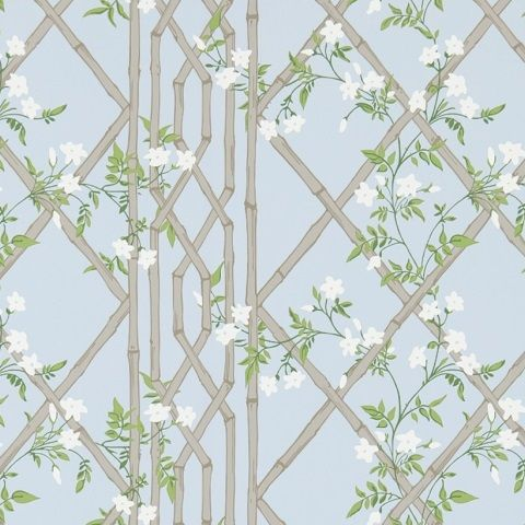 Zoffany Woodville Wallpaper-Jasmine Lattice ZWOO311332